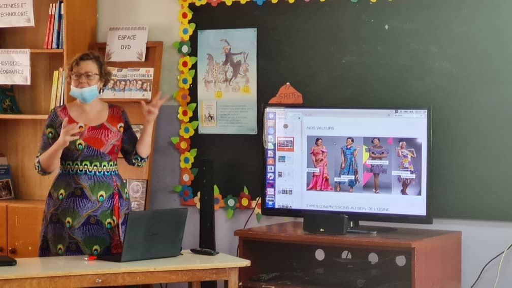 Rencontre des élèves de CM1 et CM2 avec Mme Olivier, Directrice de Création du groupe Uniwax